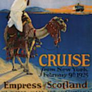 Vintage Poster -  Mediterranean Cruises Art Print