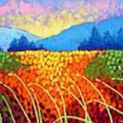 Violet Hills  Art Print