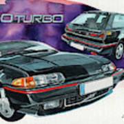 Volvo 480 Turbo Art Print