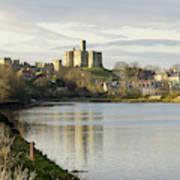 Warkworth Castle And River Aln Art Print