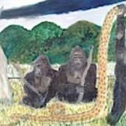 warriors of Bwindi Impenetrable  Art Print