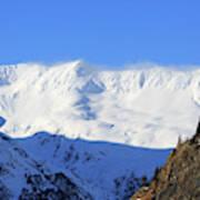 Wind Blows Over The Kenai Mountains Alaska Art Print