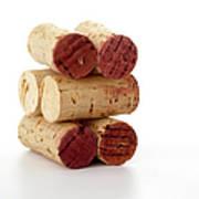 Wine Corks Serie Of 28 Images Art Print