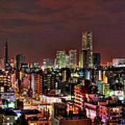 Yokohama Nightscape Art Print