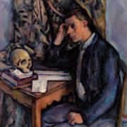 Young Man And Skull Art Print