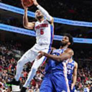 Detroit Pistons V Philadelphia 76ers Art Print