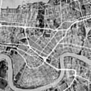 New Orleans Street Map Art Print
