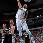 San Antonio Spurs V Dallas Mavericks Art Print