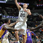 Los Angeles Lakers V San Antonio Spurs Art Print