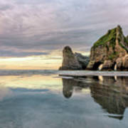 Wharariki Beach - New Zealand Art Print