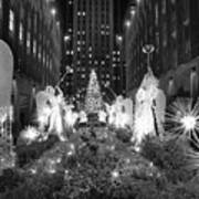 Christmas Tree At Rockefeller Center Art Print