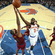 Cleveland Cavaliers V New York Knicks Art Print