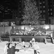 Christmas Tree At Rockefeller Center Art Print
