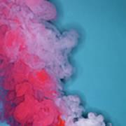 Colored Smoke Art Print