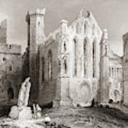 Ruins At Cashel, From The South, Connemara, County Galway, Ireland Art Print