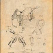 1880 Military Saddle Patent Print Antique Paper Art Print