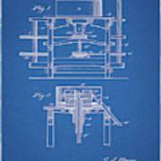 1885 Grist Mill Patent Art Print