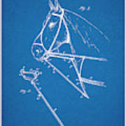 1891 Horse Harness Attachment Patent Print Blueprint Art Print