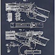 1894 Winchester Lever Action Rifle Blackboard Patent Print Art Print