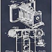 1899 Photographic Camera Patent Print Blackboard Art Print