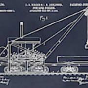 1903 Railroad Derrick Blackboard Patent Print Art Print
