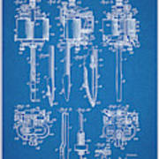 1904 Wagner Tattoo Machine Blueprint Patent Print Art Print