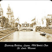 1904 World's Fair Lagoon And Electricity Building Art Print