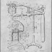1919 Anesthetic Machine Gray Patent Print Art Print