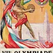 1920 Summer Olympics Vintage Poster Art Print