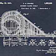 1927 Roller Coaster Blackboard Patent Print Art Print