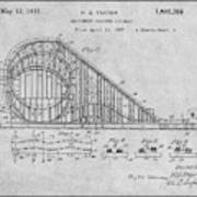 1927 Roller Coaster Gray Patent Print Art Print
