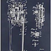 1929 Harley Davidson Front Fork Blackboard Patent Print Art Print