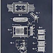 1930 Leon Hatot Self Winding Watch Patent Print Blackboard Art Print