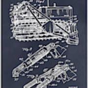 1932 Earth Moving Bulldozer Blackboard Patent Print Art Print