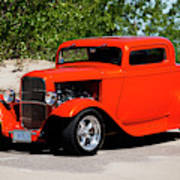 1932 Ford 3 Window Coupe  Art Print