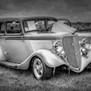 1933 Ford Tudor Sedan With Trailer Art Print