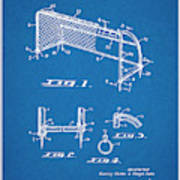 1933 Soccer Goal Blueprint Patent Print Art Print