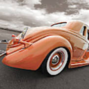 1935 Ford Coupe In Bronze Art Print