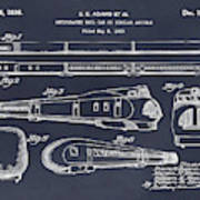 1935 Union Pacific M-10000 Railroad Blackboard Patent Print Art Print