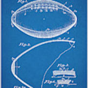 1936 Reach Football Blueprint Patent Print Art Print