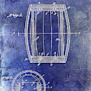 1937 Whiskey Barrel Patent Art Print