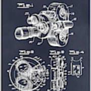 1938 Bell And Howell Movie Camera Patent Print Blackboard Art Print