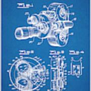 1938 Bell And Howell Movie Camera Patent Print Blueprint Art Print