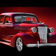 1938 Chevrolet Master Deluxe Sedan Art Print