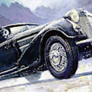 1938 Horch 855 Special Roadster Art Print