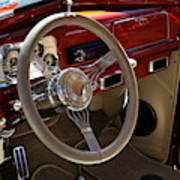 1938 Pontiac Silver Streak Interior Art Print