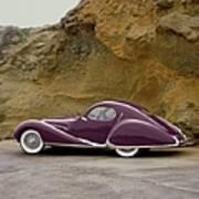 1939 Talbot-lago Model T 150 Ss With Art Print