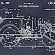 1946 Road Roller Blackboar Patent Print Art Print