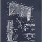 1947 Hockey Goal Patent Print Blackboard Art Print