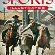 1954 Calgary Stampede Sports Illustrated Cover Art Print